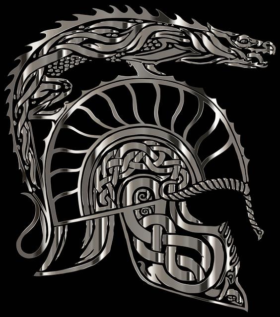 armadura, dragon, helm