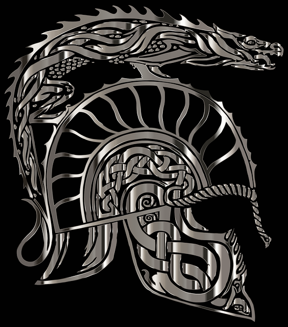 armadura, dragon, helm